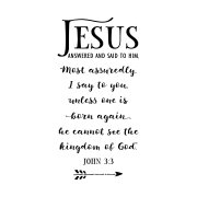 John 3v3 Vinyl Wall Decal