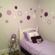 3 Colors Poka Dots Vinyl Wall Decals
