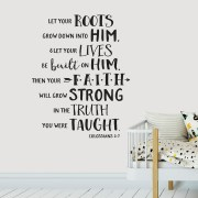 Colossians 2v7 Vinyl Wall Decal 2