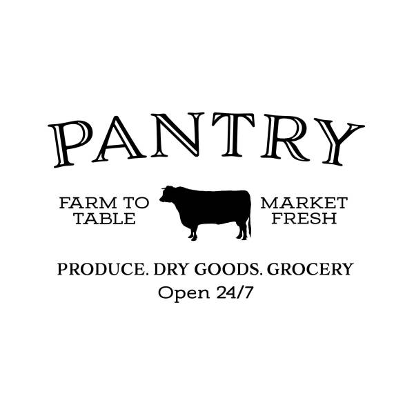 Pantry Farm to Table Market Fresh Vinyl Wall Decal 3