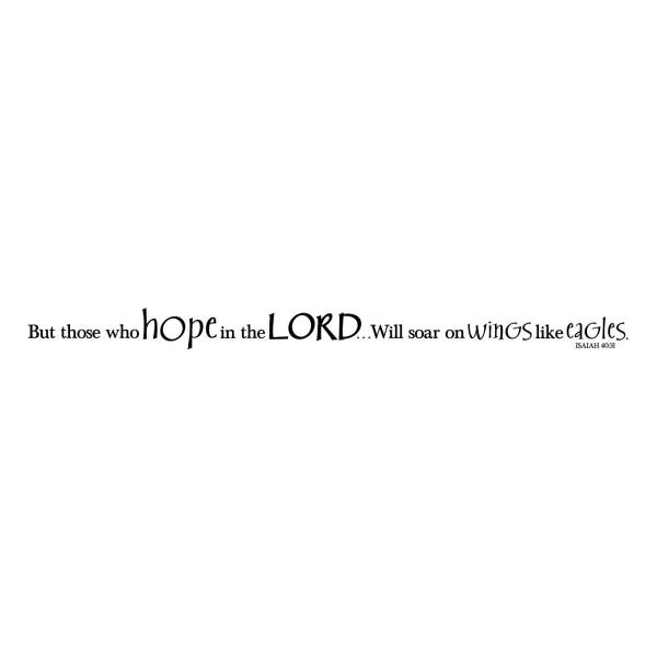 Isaiah 40v31 Vinyl Wall Decal 5