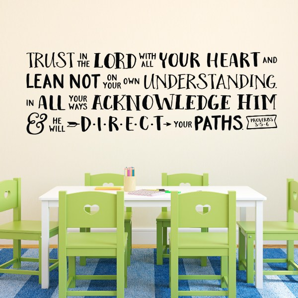 Proverbs 3v5-6 Vinyl Wall Decal 9