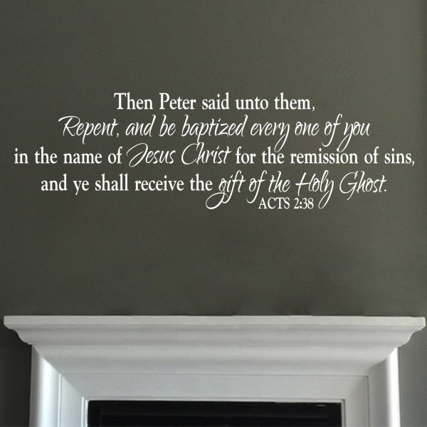 Acts 2v38 Vinyl Wall Decal 3