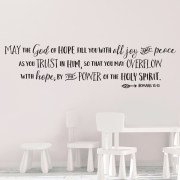 Romans 15v13 Vinyl Wall Decal 4