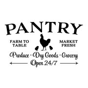 PANTRY CHICKEN DAIRY PRODUCE GROCERIES Vinyl Wall Decal