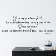 James 2v19 Vinyl Wall Decal