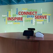 Inspire Connect Serve Vinyl Wall Decal