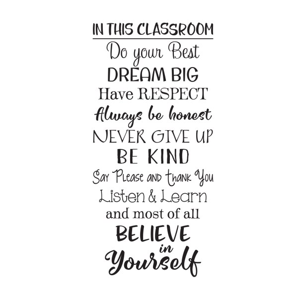 In This Classroom Vinyl Wall Decal