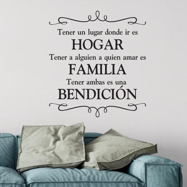 HOGAR FAMILIA BENDICION Vinyl Wall Decal