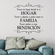 HOGAR FAMILIA BENDICION Vinyl Wall Decal