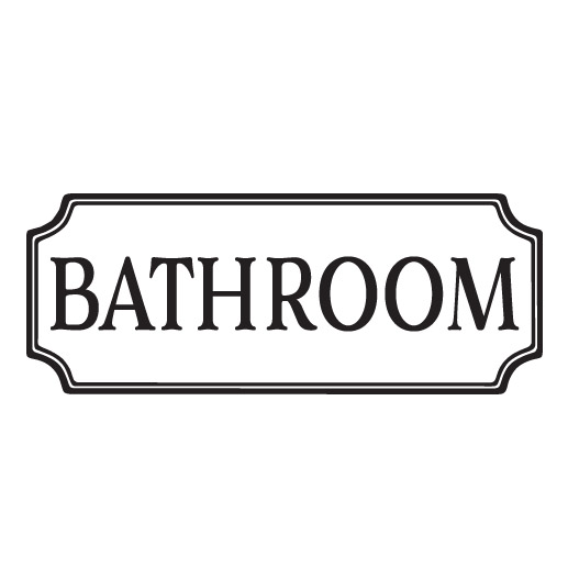 BATHROOM Vinyl Wall Decal