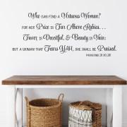 Proverbs 31v10 Vinyl Wall Decal 2
