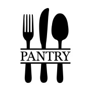 Pantry Fork Knife Spoon Vinyl Wall Decal