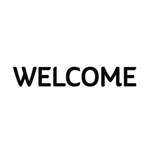 Welcome Vinyl Wall Decal Entry Wall Art