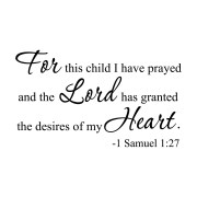 1 Samuel 1v27 Vinyl Wall Decal 33