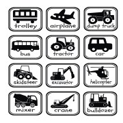Construction Transportation Rectangles Vinyl Wall Decal