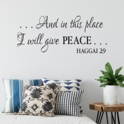 Haggai 2v9 Vinyl Wall Decal