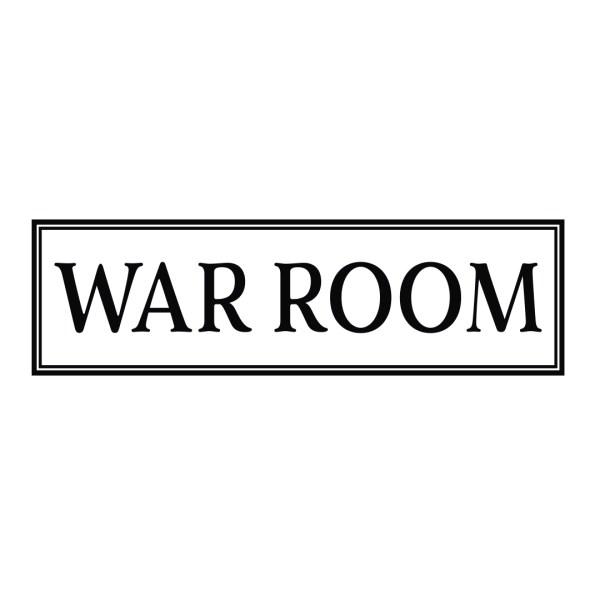 WAR ROOM Border Framed Vinyl Wall Decal