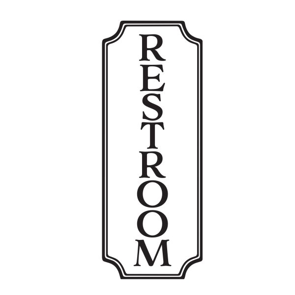 Restroom Sign Vinyl Wall Decal