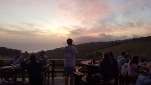 Sunset at Wildfarm backpackers, Wilderness, Garden Route, Western Cape, South Africa!