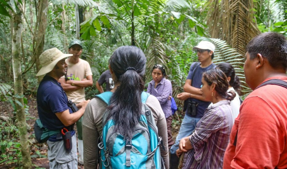 Varun Giving a Tropical Ecology Talk in the Forest