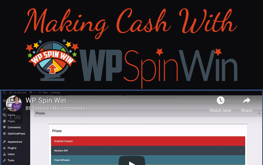Making cash with free WP Spin Win plugin