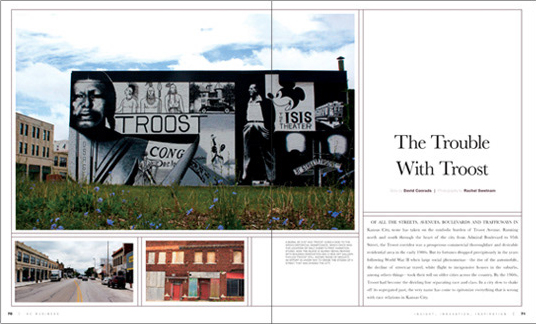 KC Business magazine layout and design