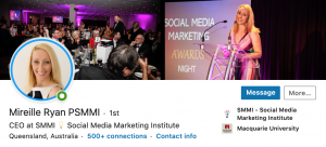 Social Media Marketing Awards - Mireille Ryan