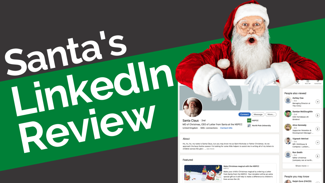Santa Clause on LinkedIn