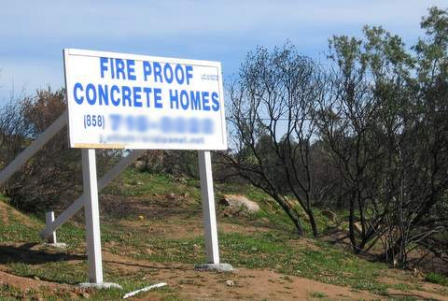 concrete Homes sign