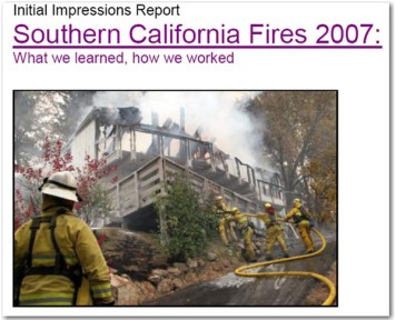 Report Released on 2007 Southern California Fires