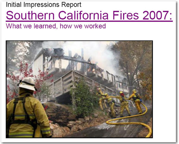 2003 Fires, Lessons Learned