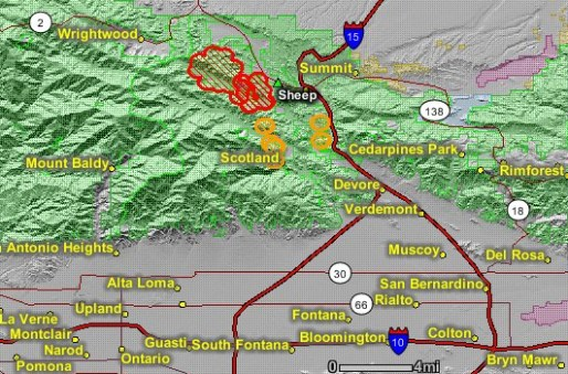 Sheep Fire Requires Evacuations Near Wrightwood Ca Wildfire Today