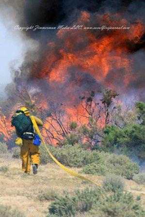southern california brush fire