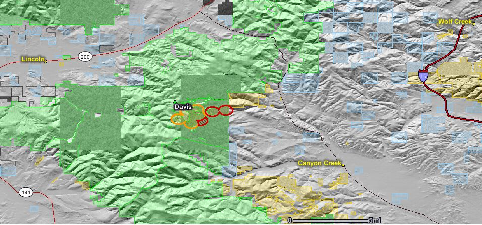 Map And Update Of Davis Escaped Prescribed Fire Near Helena