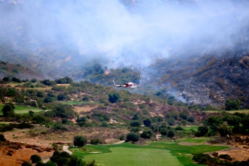 golf course fire