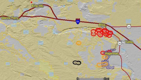 Lone Butte fire map 8-23-2010