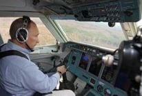 Putin in the copilot's seat