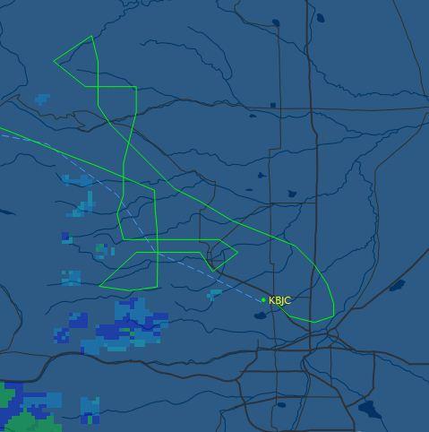 Infrared flight track
