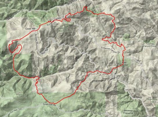 Fourmile fire map