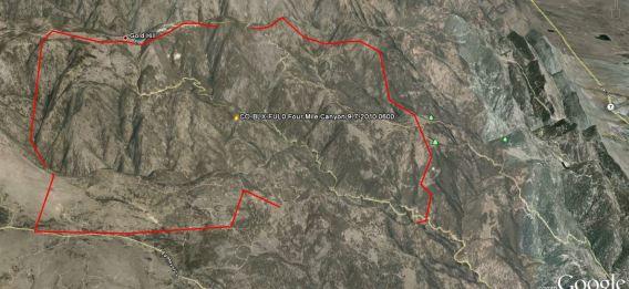 Fourmile fire map perimeter