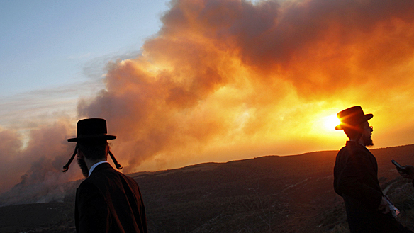 wildfire in israel