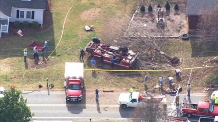 Morganton North Carolina fire truck rollover