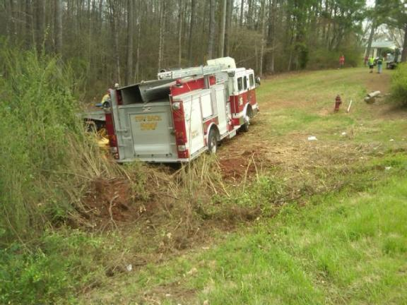 Coweta County wrecked fire Truck