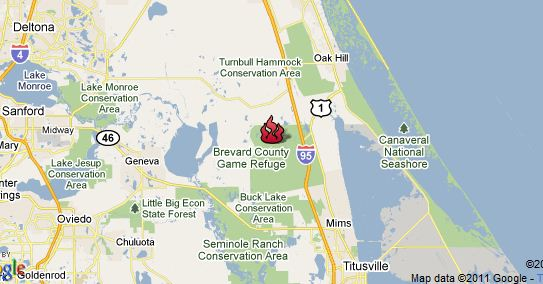 I95 Map Florida.Florida Wildfire Closed I 95 And U S 1