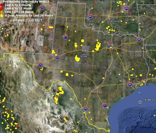 Map of Texas fires Map of Texas fires April 21  2011