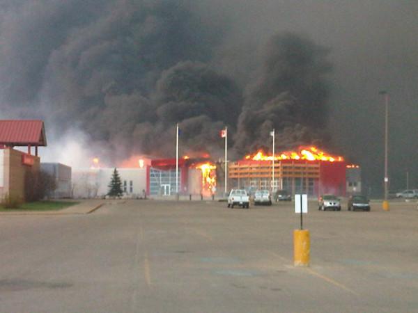 Main street Slave Lake fire CTV