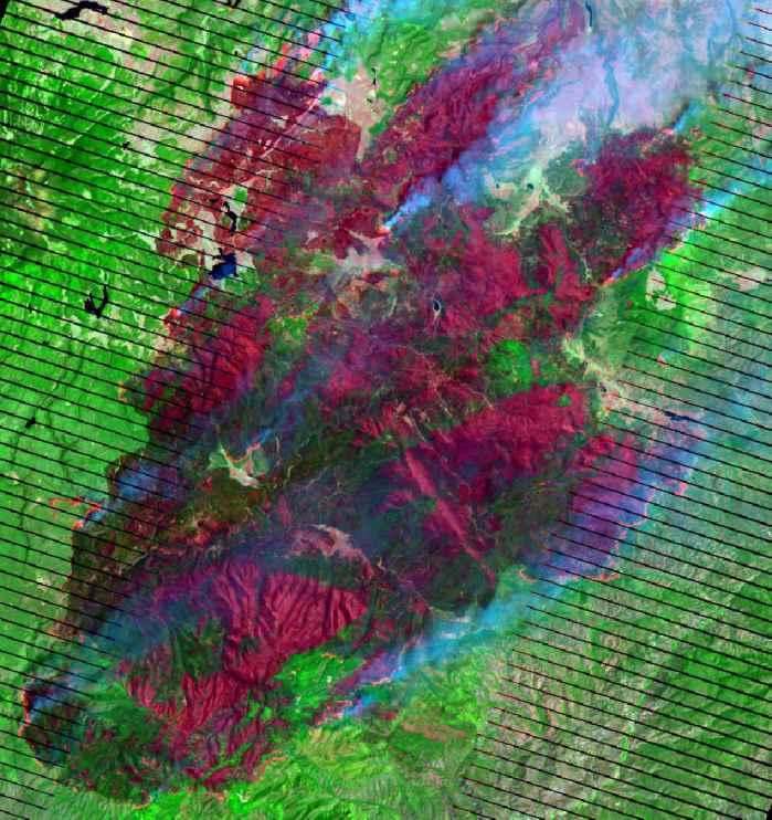 Wallow fire satellite photo 6-7-2011