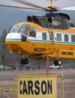 Sikorsky S-61N helicopter operated by Carson