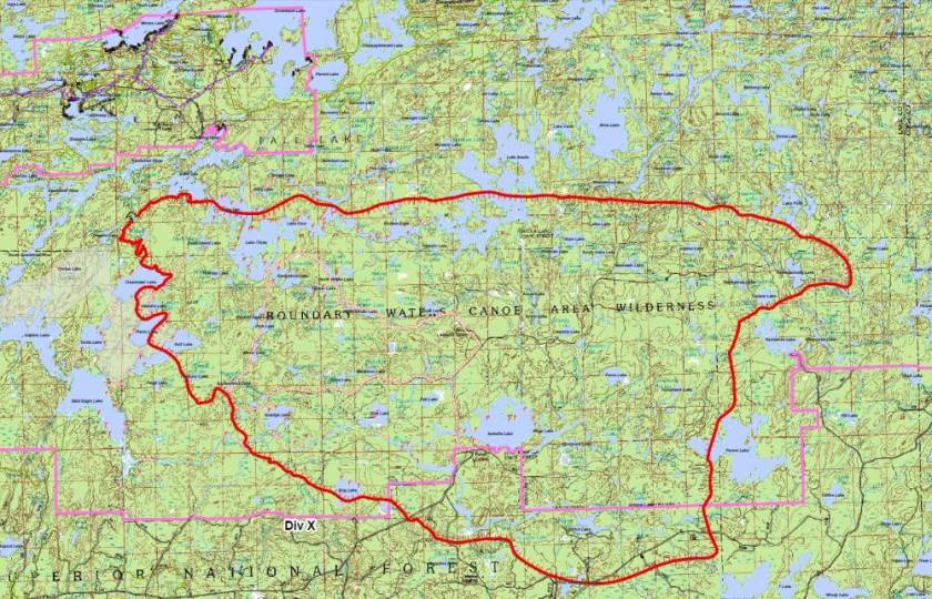 Map Pagami Creek fire public briefing 1900 9-13-2011
